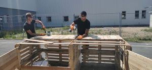 construction de bac composteur